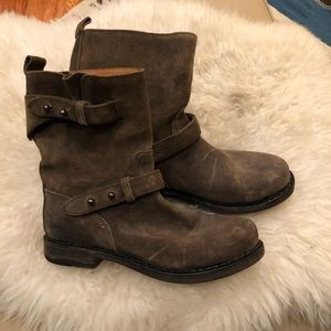 Rag and Bone suede leather moto boots 6